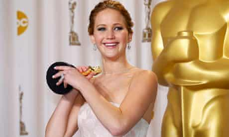 Jennifer Lawrence with her best actress Oscar