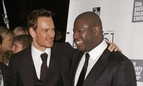 12 Years a Slave director Steve McQueen, right, with Michael Fassbender, who plays a violent slaveow