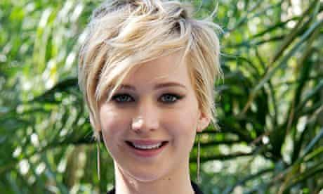 Jennifer Lawrence at the LA press conference for The Hunger Games: Catching Fire