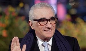 Martin Scorsese, face full of masked terror, at the Berlin film festival in 2008
