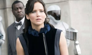 Death watch … Jennifer Lawrence as Katniss Everdeen in The Hunger Games: Catching Fire.
