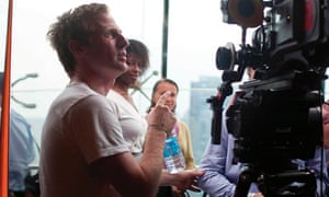Spike Jonze on the set of Her