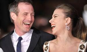Spike Jonze and Scarlett Johansson at the Rome film festival premiere of Her