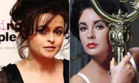 Helena Bonham Carter and Elizabeth Taylor