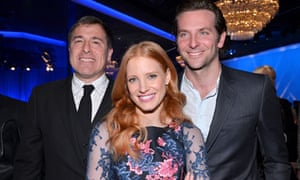 David O Russell,  Jessica Chastain and Bradley Cooper