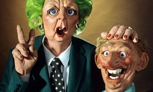 Margaret Thatcher and Neil Kinnock as Spitting Image puppets