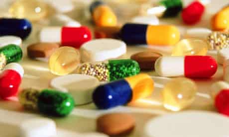 Various multicoloured pharaceutical pills