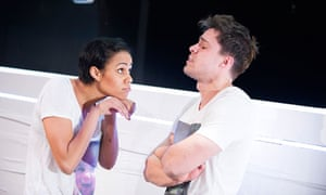 Zawe Ashton and Oliver Rix in Narrative at the Royal Court