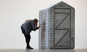 Rachel Whiteread's Detached, at the Gagosian Gallery in London.