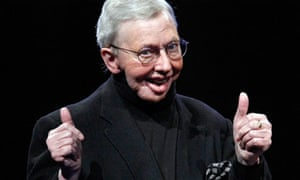 The film critic Roger Ebert who has died, aged 70