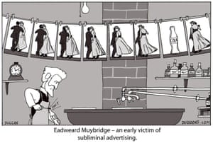 Peter Duggan's Artoon: Eadweard Muybridge