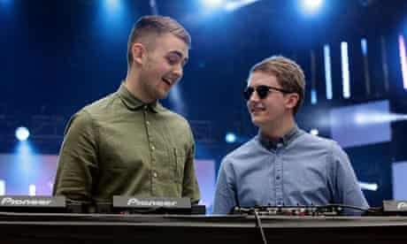No headphones … Disclosure onstage at the Capital FM Summertime Ball at London's Wembley stadium.