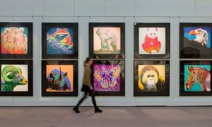 Andy Warhol's 1983 Endangered Species series of silkscreen prints.