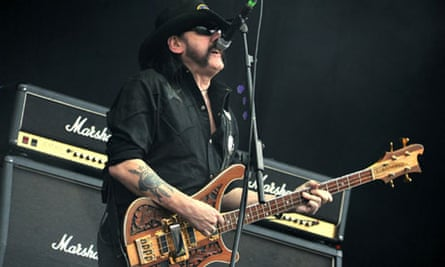 Rock steadied … Lemmy performs during Motörhead's Download festival set last month.