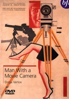 DVD cover of the 1929 Dziga Vertov film Man with a Movie Camera.