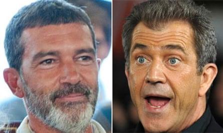 Antonio Banderas and Mel Gibson