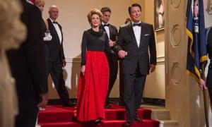 Serving a purpose? … Alan Rickman as Ronald and Jane Fonda as Nancy Reagan in Lee Daniels' The Butle