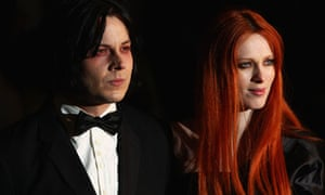 Jack White with now ex-wife Karen Elson