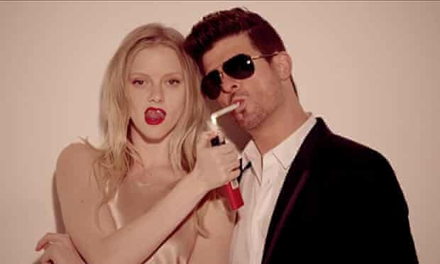 Robin Thicke's Blurred Lines video