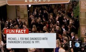 Golden Globes: Michael J Fox has Parkinsons fun fact