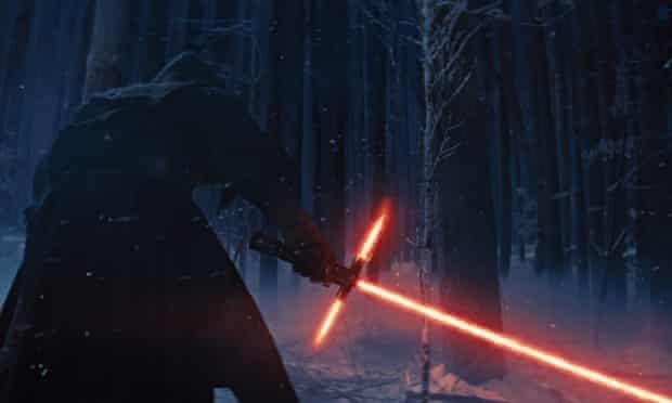 Forum menace … an image from Star Wars: The Force Awakens, released by Disney, showing a Sith-like c