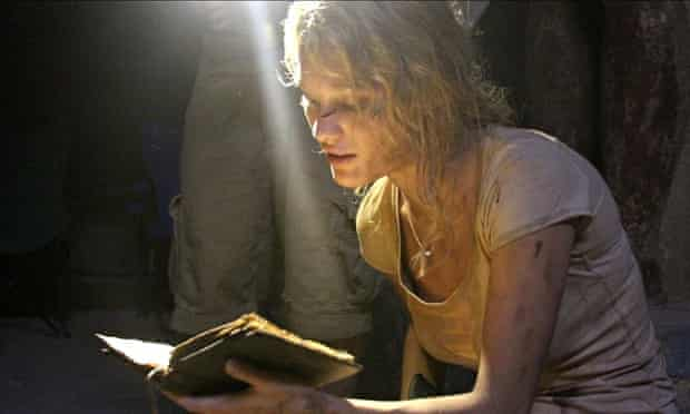 Undead on arrival …Ashley Hinshaw in The Pyramid.
