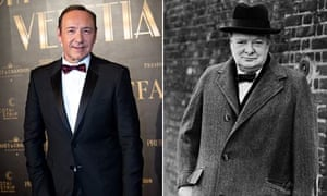 Kevin Spacey and Winston Churchill.