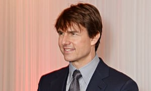 Returning fire … Tom Cruise, the star of Top Gun, at the Empire film awards.