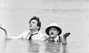 Joseph Cotten and Edgar Barrier in Too Much Johnson