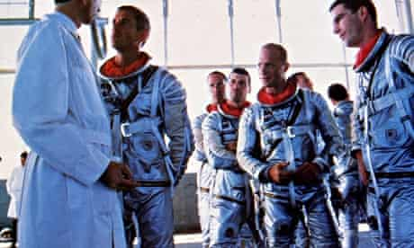 The astronauts suit up in The Right Stuff