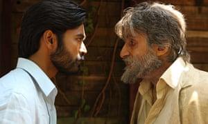 Dhanush and Amitabh Bachchan in Shamitabh