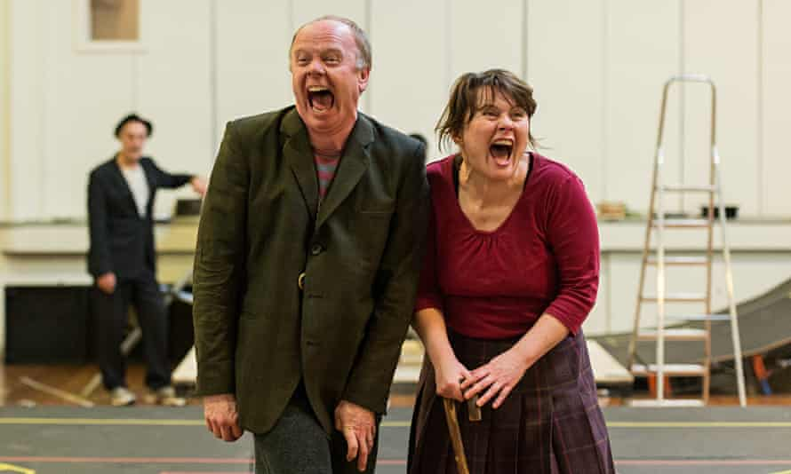 Highly anticipated … Jason Watkins and Monica Dolan rehearse Roald Dahl's The Twits – adapted by End