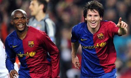 Eto'o, Messi