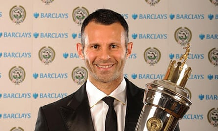 Ryan Giggs with his Player of the Year award