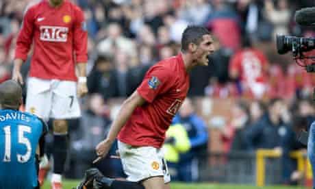 Federico Macheda celebrates following Manchester United's 3-2 win over Aston Villa