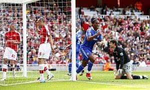 Didier Drogba, Arsenal v Chelsea
