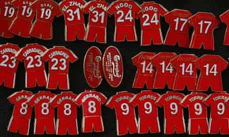 Liverpool shirt badges