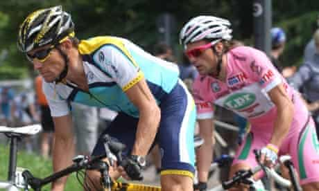 Lance Armstrong has denied claims in Italy that he was responsible for Sunday's go-slow protest