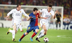 Wayne Rooney, Lionel Messi and Michael Carrick