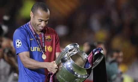 Barcelona's Thierry Henry celebrates