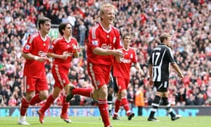 Dirk Kuyt celebrates after scoring his sides second goal of the game