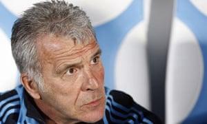 Marseille's coach Eric Gerets