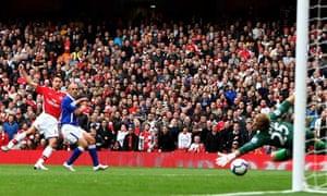 Robin van Persie, Arsenal v Birmingham City