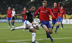 Antonio Valencia hammers home Manchester United's winner in Moscow