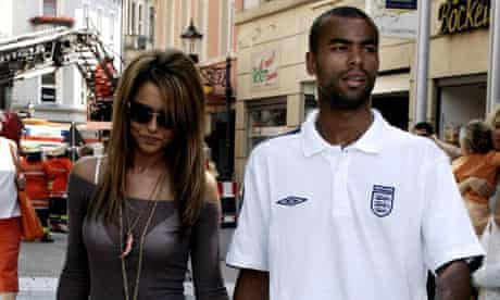 Ashley Cole with his then-fiancee Cheryl Tweedy in Baden-Baden during the 2006 World Cup