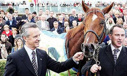 New Approach with trainer Jim Bolger, left
