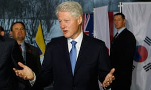 Former US president Bill Clinton is in Zurich to support America's bid to host the 2022 World Cup