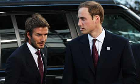 Prince William David Beckham