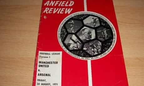 Manchester United v Arsenal at Anfield 1971