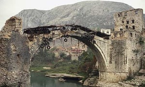 A burnt bridge